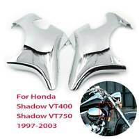 Chrome Plastic Front Neck Side Frame Guard Cover For Honda Shadow VT400 VT750
