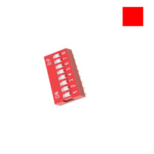 10pcs Switch Module Red 2.54Mm Pitch 8-Bit 8-Positions Way Slide Type Dip Ic New