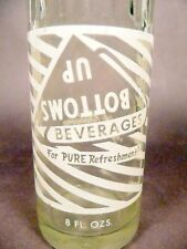 vintage ACL Soda Pop Bottle: BOTTOMS UP - 8 oz ACL