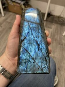 NEW LABRADORITE STANDING PIECE WITH LOVELY FLASH MINED IN MADAGASCAR 1.2kg (11)