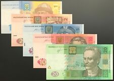 Ukraine - SET of 5 notes (PCS), 1 - 20 HRYVEN 2013 - 2015, Pick # 116A-120, UNC