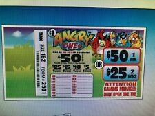 Angry Ones $57 Profit 162 Ticket Count $1 Pull Tab Games, Raffle/Jar Tickets