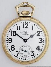 Ball Official Railroad Standard 21 Jewels Pocket Watch Stirrup Bow 999B 1B772