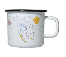 Moomin Enamel Mug Winter Day Limited Edition 2012 Muurla