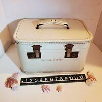 Vintage Train Makeup Case Suitcase 50s Luggage Hardside Jacque Cotter Burlesque