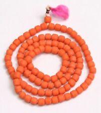 Muga Orange Jap Mala Jap Mala Hindu Japa Meditation Yoga Necklace Rosary  108