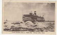 Canada Steamship Lines SS Rapids King Lachine Rapids Vintage Postcard US046