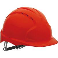 Schutzhelm Bauhelm Helm HDPE-Kunststoff Top Qualität JSP Rot Gr. 53 - 64cm NEU