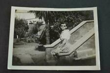 Vintage Photo Pretty Girl in Sun Glasses Waiting by Mail Box 952073