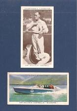 Sir MALCOLM CAMPBELL BLUEBIRD at CONISTON World Water Speed Record 1939 2 cards