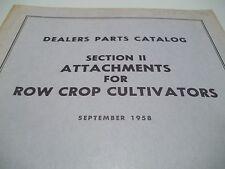 +1958 ALLIS CHALMERS DEALERS PARTS CATALOG SECTION II ROW CROP CULTIVATORS