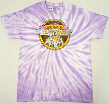 VAN HALEN Tie Dye T-shirt Tee Unisex S/M 100% Cotton Purple New