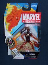 Marvel Universe Human Torch 3 3/4 Action Figure #7 Series 1 NIB Hasbro