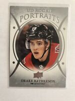 18/19 UPPER DECK SERIES 2 UD PORTRAITS ROOKIES HOCKEY DRAKE BATHERSON NHL CARDS