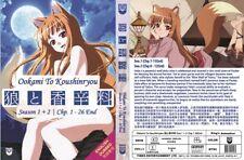 ANIME DVD~ENGLISH DUBBED~Ookami To Koushinryou Season 1+2(1-26End)FREE SHIP+GIFT