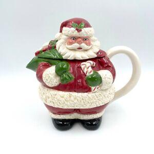 Vintage Mark Alvin Otagiri Santa Claus Teapot Christmas Made in Malaysia