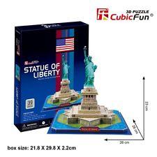 3D Puzzle Statue of Liberty Model Jigsaw Cardboard Puzzles 39PCS- CubicFun C080h