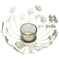 dotcomgiftshop SHABBY & CHIC WHITE TEA LIGHT CANDLE HOLDER. WEDDING DECORATION