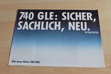 109240) Volvo 740 GLE Prospekt 198?