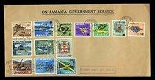 JAMAICA 1969 C DAY DEFINITIVES FIRST DAY COVER on GOVERNMENT ENVELOPE