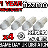 4x LED 433 434 H6W BAX9S OFFSET HID XENON WHITE SIDE LIGHT CAP UK 1YR WARRANTY