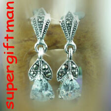 E883 - BO oorbellen argent zilver MARCASSITE DIAMANT CZ
