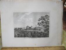 Vintage Print,DOLFORWYN CASTLE,Grose's Antiquities England,c1790