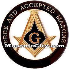 Z-121 F & AM All Black Masonic Auto Emblem FreeMasonry Car Lodge Mason PHA