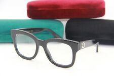 NEW GUCCI GG 0033O 001 BLACK AUTHENTIC FRAMES RX EYEGLASSES GG0033O CASE 50-20