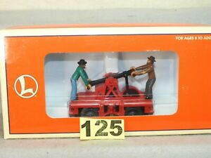 CLEAN LIONEL O GAUGE #6-18480 AC POWERED HOBO HAND CAR READY TO RUN L.N.