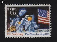1994 Sc 2842 Moon Landing 25th Anniversary $9.95 used single  CV $16