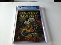 BLACK MAGIC 17 CGC 4.0 PRE CODE HORROR THE FAMILY FREAK JACK KIRBY PRIZE COMICS