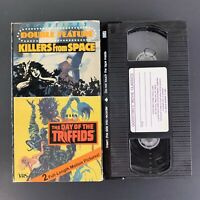 Killers From Space - Day of the Triffids - Double Feature -  VHS Tape