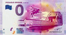 BILLET 0 ZERO EURO SOUVENIR TOURISTIQUE PEGASUS BRIDGE 2016