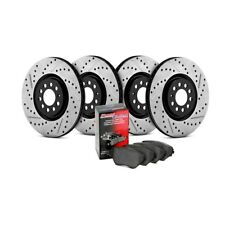 FRONT + REAR SET STOPTECH SportStop Drilled Slotted Brake Rotors STS57767