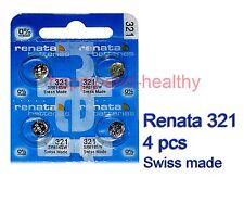 Renata SR616SW 321 Silver Oxide button Battery x 4 pcs Swiss Made FREE Post