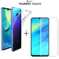 COVER per Huawei Mate 20 CUSTODIA Soft TPU + PELLICOLA VETRO TEMPERATO 9H HD