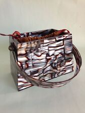 MITZI BAKER STRUCTURED LUCITE BOX BAG WITH TOP HANDLE