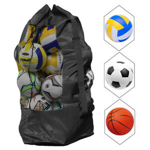 Mesh Equipment Ball Bag Football Carrying Net Sack Soccer Portable Sports Bag