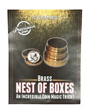 Brass Nest of Boxes Coin Magic Trick