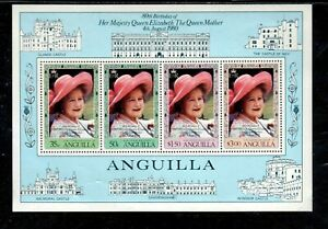 ANGUILLA #397a 1980 QUEEN MOTHER 80TH BIRTHDAY MINT VF NH O.G S/S