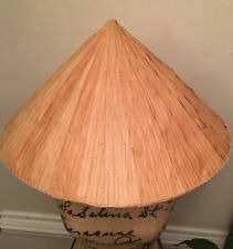 Bamboo Coolie Chinese Conical Hat Asian Rice Patty Farmer Halloween Costume