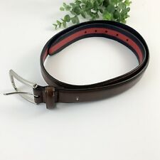 Tommy Hilfiger Mens Brown Leather Skinny Belt Size 36/90