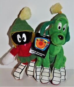 Looney Tunes MARVIN the MARTIAN & K9 Mini Bean Bag PLUSH Warner Bros Studio Stor