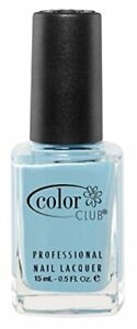 Color Club Poptastic Neons Nail Polish, Blue, Factory Girl.05 Ounce