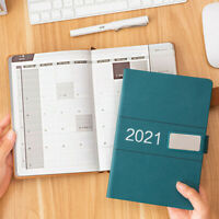 2021 A5 PU Leather Journal Notebook Lined Paper Diary Planner Agenda 352Pages