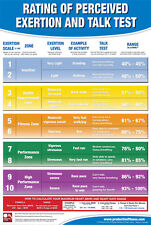 RATING OF PERCEIVED EXERTION Cardio Fitness Professional Gym Wall Chart Poster