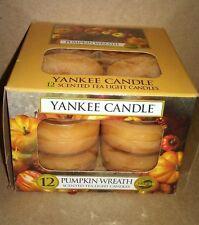 YANKEE CANDLE TEA LIGHTS PUMPKIN WREATH  RARE AND AWESOME
