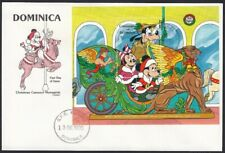 Dominica Christmas 1990 Micky Minnie and Goofy Miniature Sheet First Day Cover