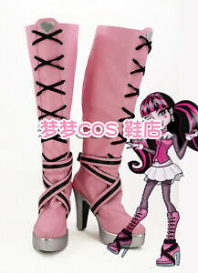 Monster High Draculaura Cosplay Shoes Boots Custom Made